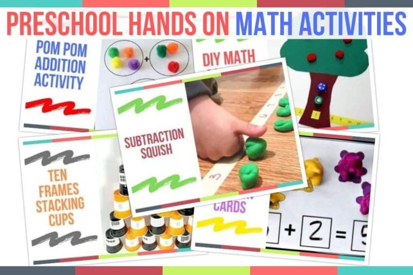 Preschool Hands On Math Activities - Preschool Home Activities