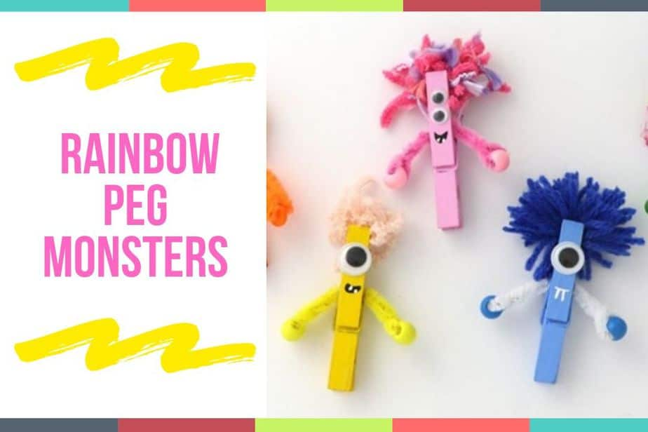 Rainbow Peg Monsters