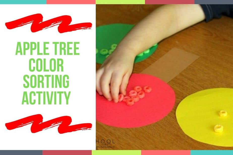 Apple Tree Color Sorting Activity