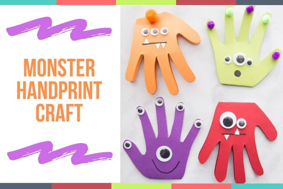 Monster Handprint Craft