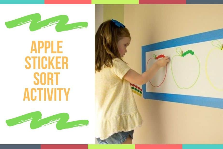 Apple Sticker Sort Activity