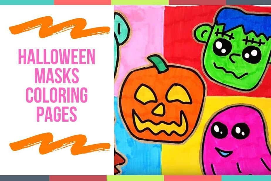 Halloween Masks Coloring Pages