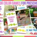 Outdoor Color Games For Preschoolers