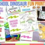 Preschool Dinosaur Fun Printables