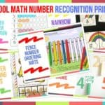 Preschool Math Number Recognition Printables