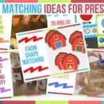 Shape Matching Ideas For Preschool