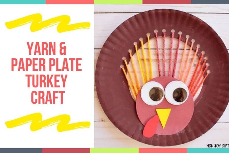 Yarn & Paper Plate Turkey Craft