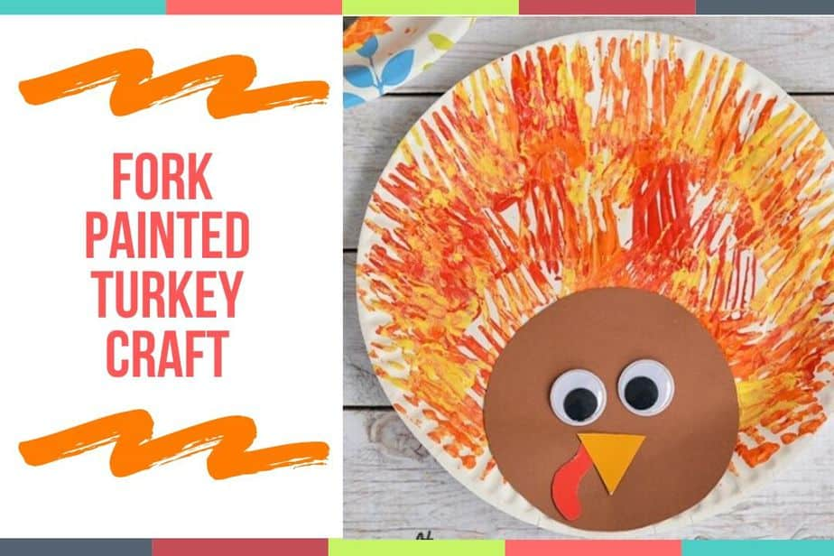 Fork Painted Turkey Craft