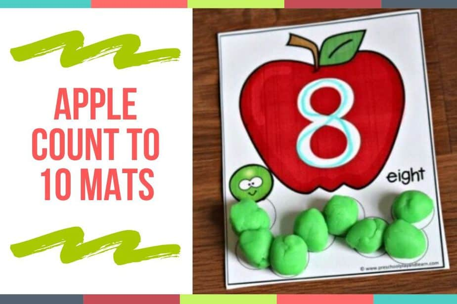 Apple Count To 10 Mats