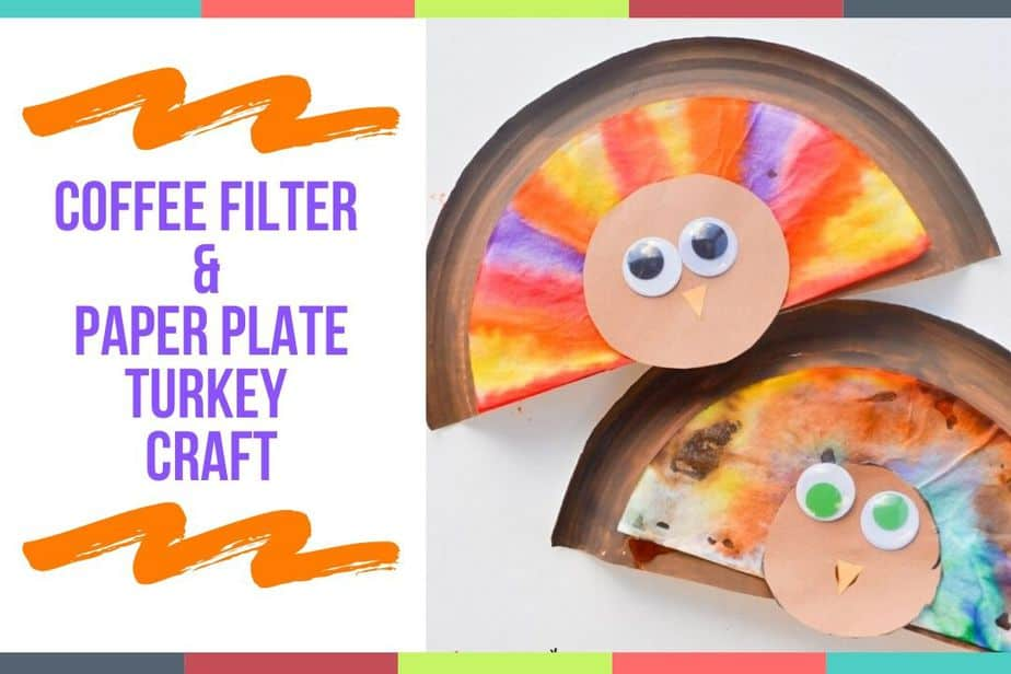 Coffee Filter & Paper Plate Turkey Craft