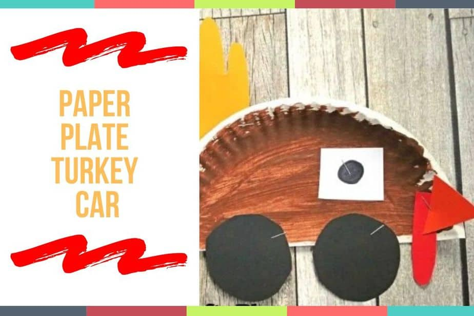 Paper Plate Turkey Car