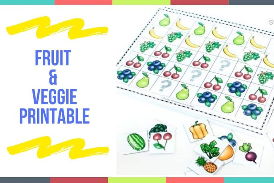 Fruit & Veggie Printable