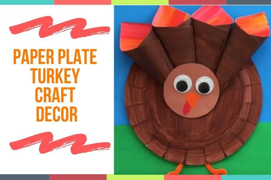Paper Plate Turkey Craft Decor