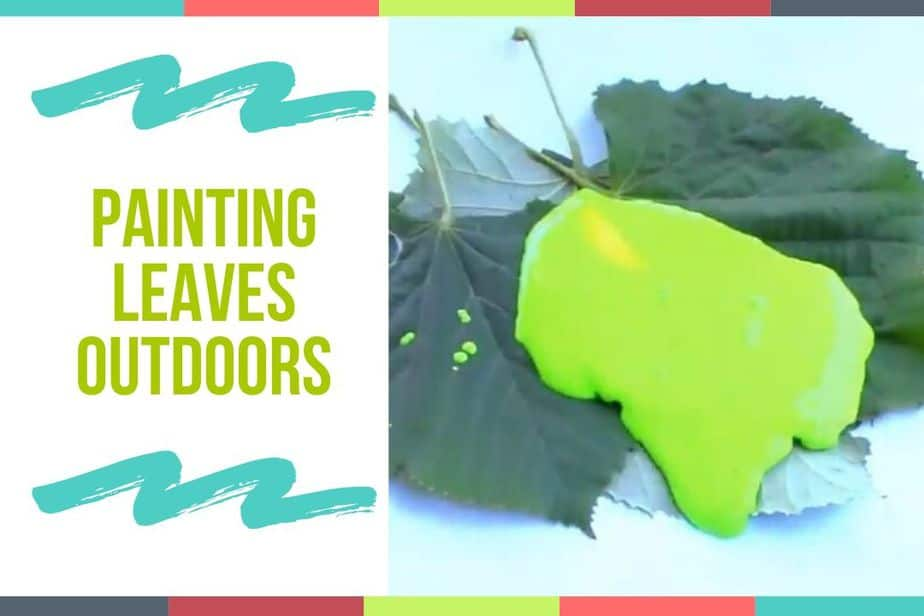 Painting Leaves Outdoors