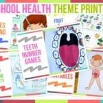 Preschool Health Theme Printables