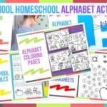 Preschool Homeschool Alphabet Activities