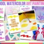 Preschool Watercolor Art Painting Ideas
