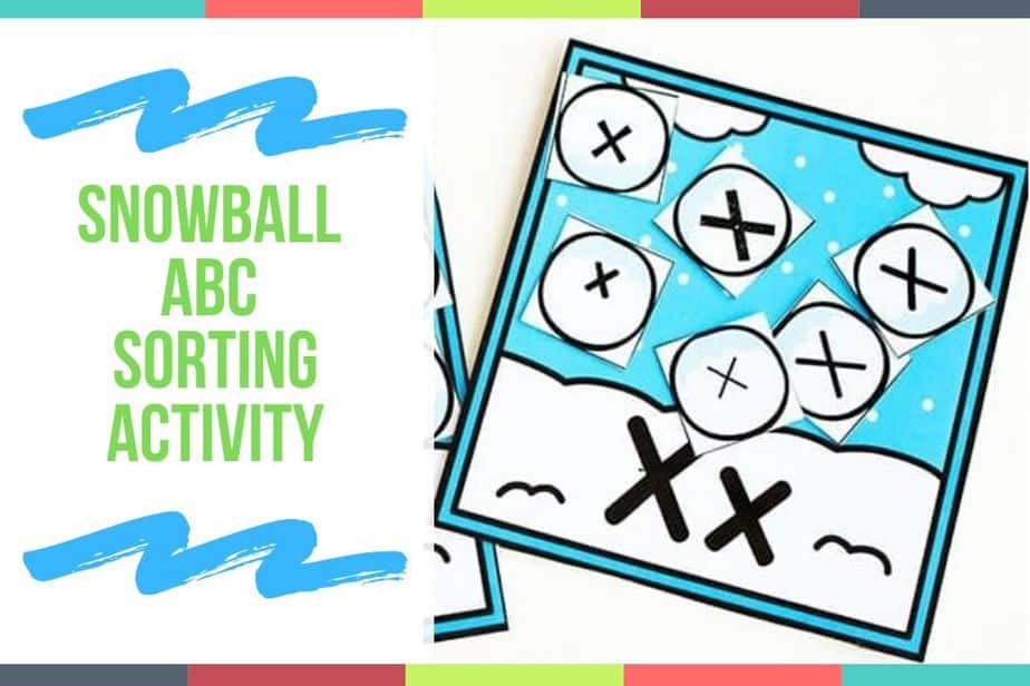 Snowball ABC Sorting Activity