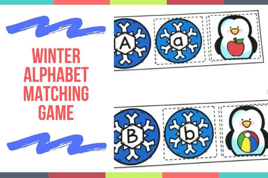 Winter Alphabet Matching Game