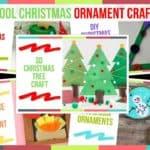 Preschool Christmas Ornament Craft Ideas