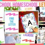 Preschool Homeschool Letters