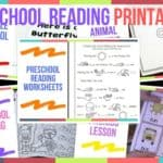 Preschool Reading Printables