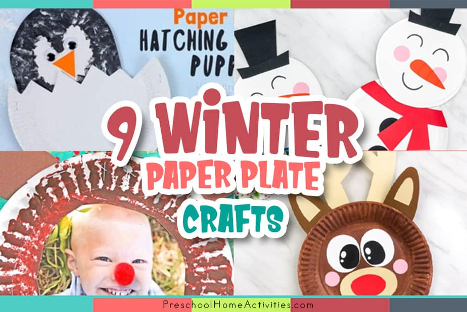 Preschool Winter Paper Plate Crafts featured image