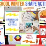 Preschool Winter Shape Activities
