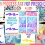Winter Process Art For Preschoolers