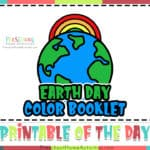 Earth Day Preschool Worksheets (Color & Trace Booklet)