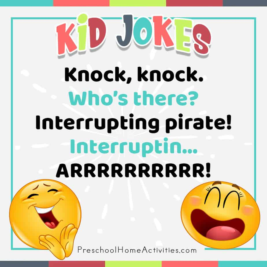 Silly Jokes for Preschoolers Pirate