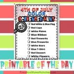 Preschool 4th of July Color Scavenger Hunt