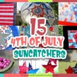 4th of July Preschool Suncatchers