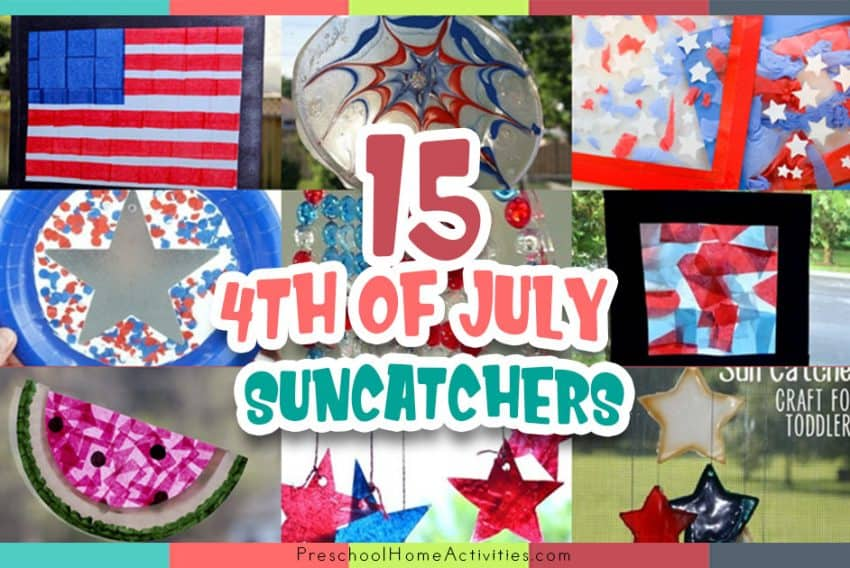 4th of July Preschool Suncatchers