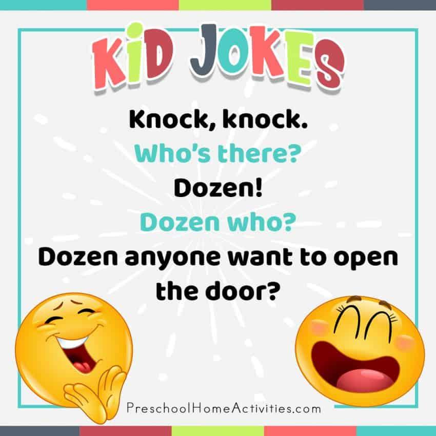 Preschool Dozen Knock Knock Joke