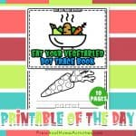 Eat Your Vegetables Day Dot Trace Book