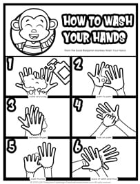 Hand Washing Poster for Preschoolers