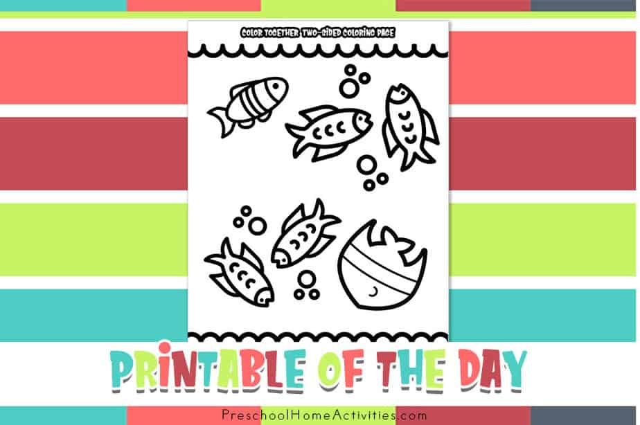 Color Together Father's Day Coloring Page