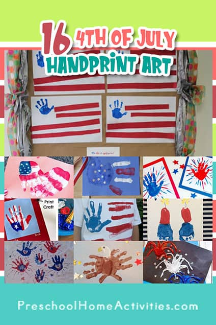 Fourth of July Handprint Crafts Pin