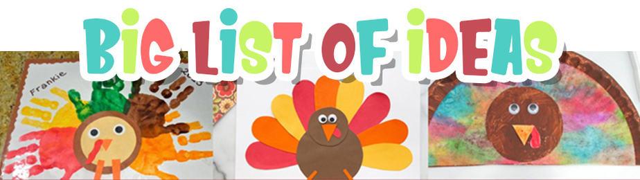 Easy Turkey Crafts Big List