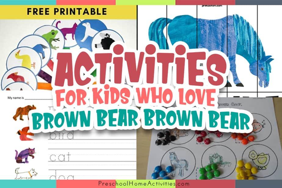 Brown Bear Brown Bear Activities Pre K featured