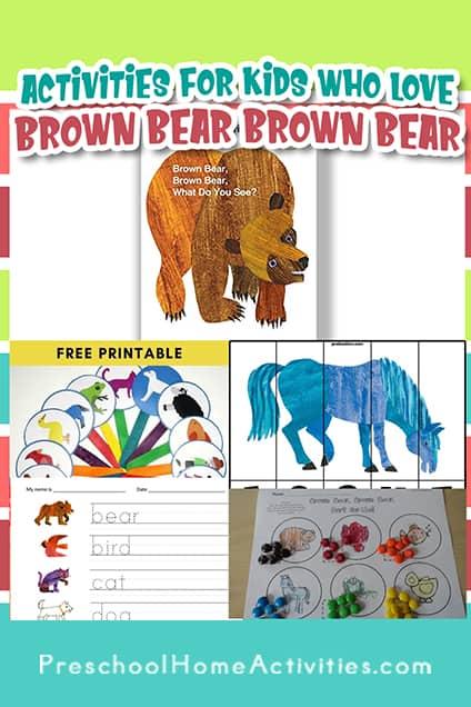 Brown Bear Brown Bear Activities Pre K pin