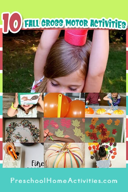 Fall Gross Motor Activities For Toddlers Pin