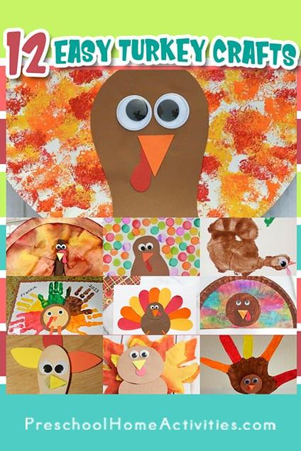 Easy Turkey Crafts for Preschoolers Pin