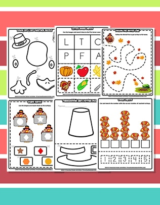 Preschool Thanksgiving Cutting Worksheets Download