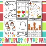 Preschool Thanksgiving Cutting Worksheets (Full Free Bundle)