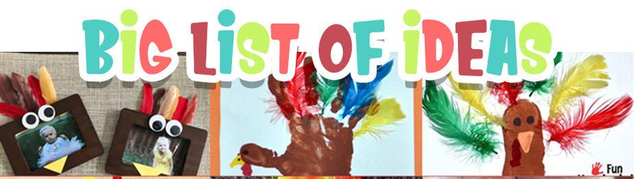 Preschool Turkey Crafts With Feathers Big List