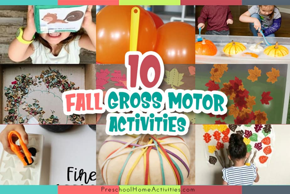 Fall Gross Motor Activities For Toddlers feature