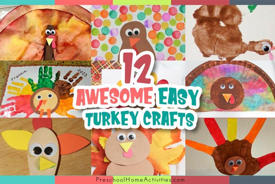 Easy Turkey Crafts for Preschoolers