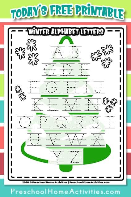 winter alphabet letters worksheet Pinterest